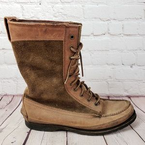 Cole Haan Moccasin Leather Boots Womens 9.5 Shoes